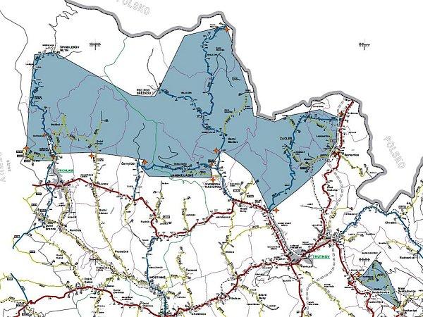 Mapa zimní výbavy vKrkonoších