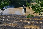 Požáry při žních