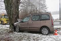 Nehoda na trase Velký Vřešťov - Žíželeves.