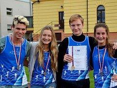 Na víkendovém mistrovství České republiky žactva v Břeclavi reprezentovalo oddíl AC Turnov hned 15 atletů.