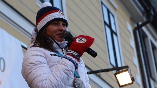 Biatlonistka Veronika Vítková v Jilemnici