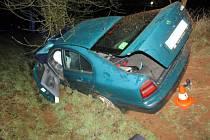 Policisté naměřili šoférovi po nehodě bezmála dvě promile.