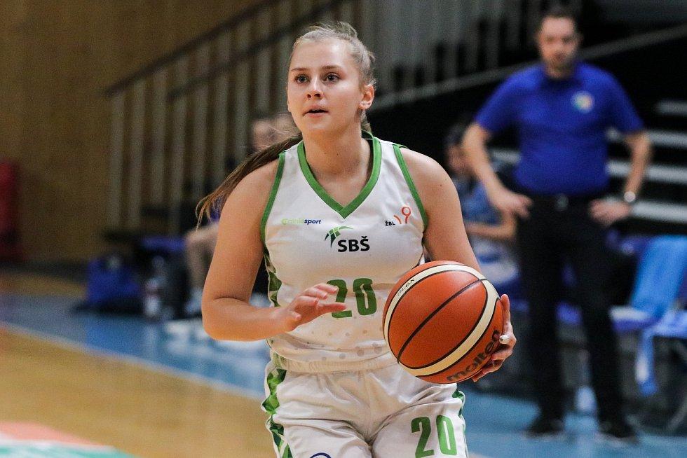 Utkání 10. kola Ženské basketbalové ligy: SBŠ Ostrava - BK Loko Trutnov, 5. prosince 2018 v Ostravě. Na snímku Frgalová Kateřina.