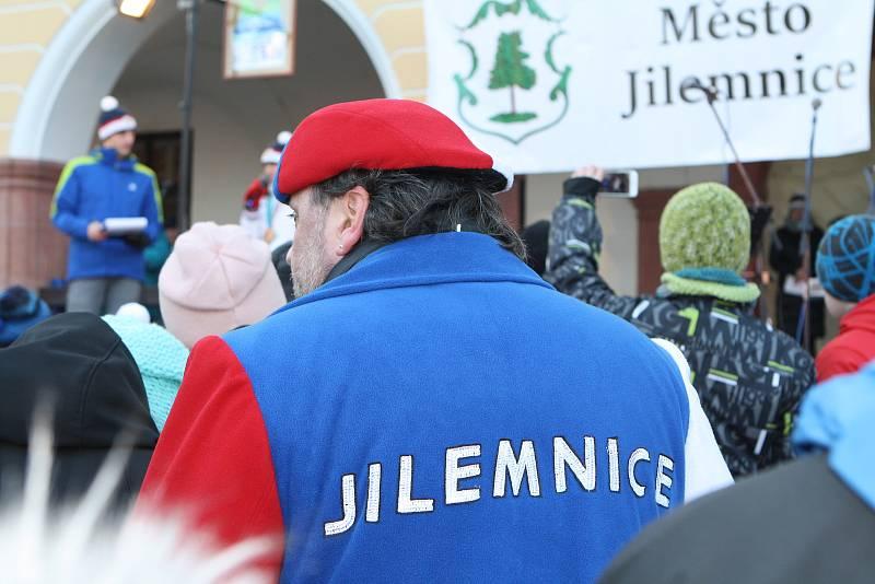 Uvítání olympioniků v Jilemnici.