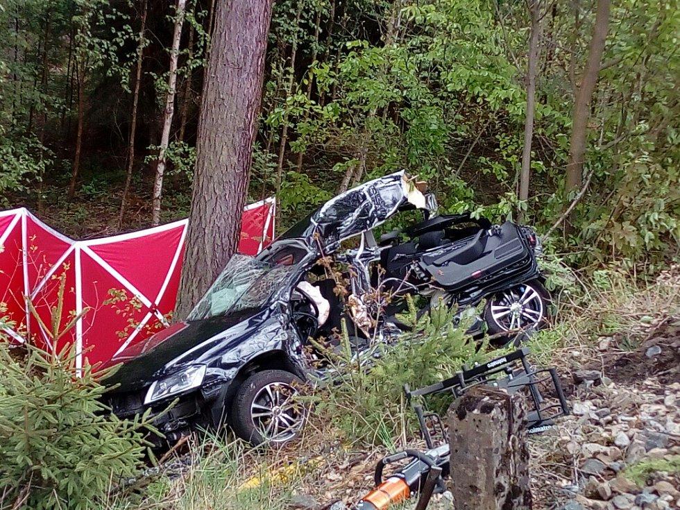 Z místa tragické nehody v Bílé Třemešné.