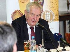 Prezident Miloš Zeman v Harrachově