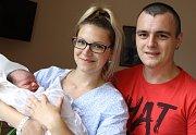 VOJTĚCH KRTIL se narodil 30. srpna ve 12.05 hodin v trutnovské porodnici rodičům Štěpánce a Vojtěchovi. Vážil 3590 gramů a měřil 50 centimetrů. Rodina je z Úpice.