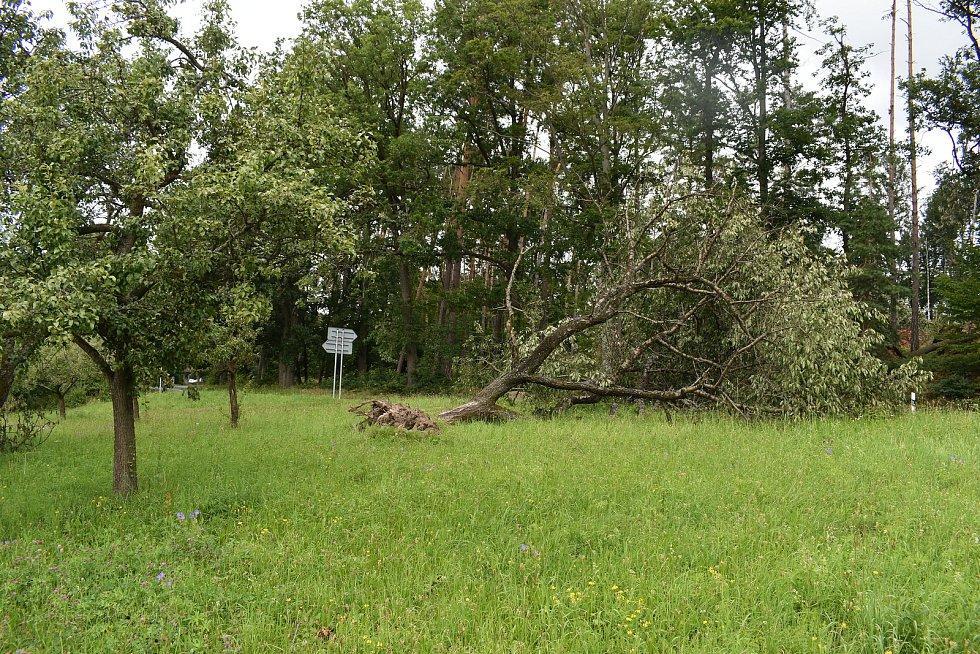 V Nemojově jsou následky bouřky stále vidět na každém kroku.