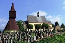 V BLÍZKOSTI nejstarší rtyňské památky – zvoničky, se nachází hřbitov i urnový háj, které v příštích měsících projdou modernizací.