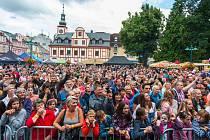 Pivní slavnosti na náměstí TGM ve Vrchlabí.