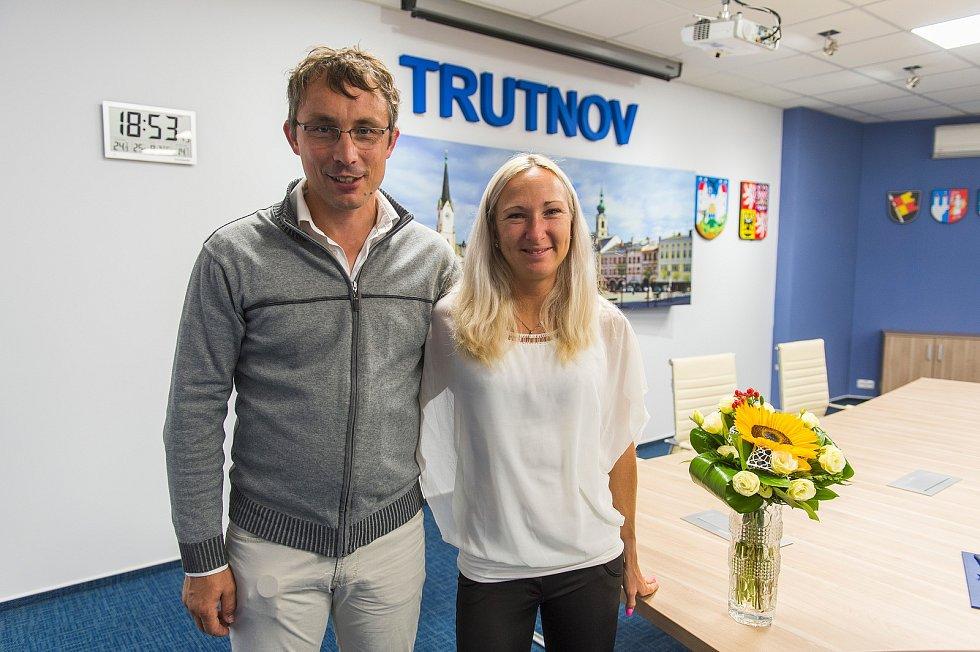 Eva Vrabcová Nývltová s trenérem a manželem Martinem Vrabcem.