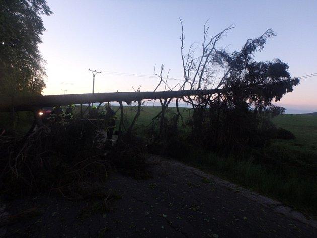 Vichřice kosila stromy, hasiči byli na roztrhání.