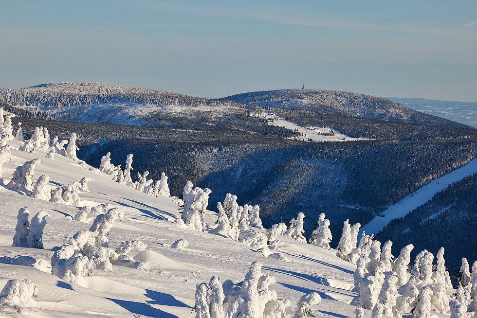 Západní Krkonoše na začátku tohoto týdne.