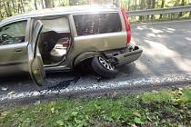 Dopravní nehoda u Strážného