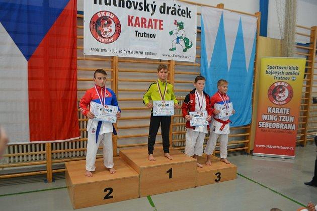 Tadeáš Orság obsadil vkategorii kata první místo.