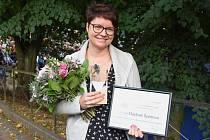 Krajkářka Lenka Špetlová Máslová z Hostinného získala ocenění mistr tradiční rukodělné výroby.