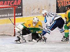 Druhé okresní derby vyhrálo na královédvorském ledě Vrchlabí 4:3 po samostatných nájezdech.