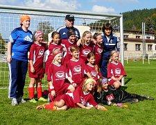 Malé fotbalistky MFK se představily na domácí půdě