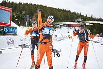 Legendární závod Krkonošská sedmdesátka se stále těší zájmu běžkařů. Při 64. ročníku jich vyrazilo do hor sedm set.