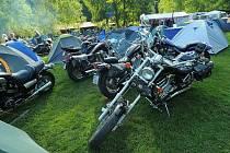 9. motosraz Černých jezdců v kempu Kateřina