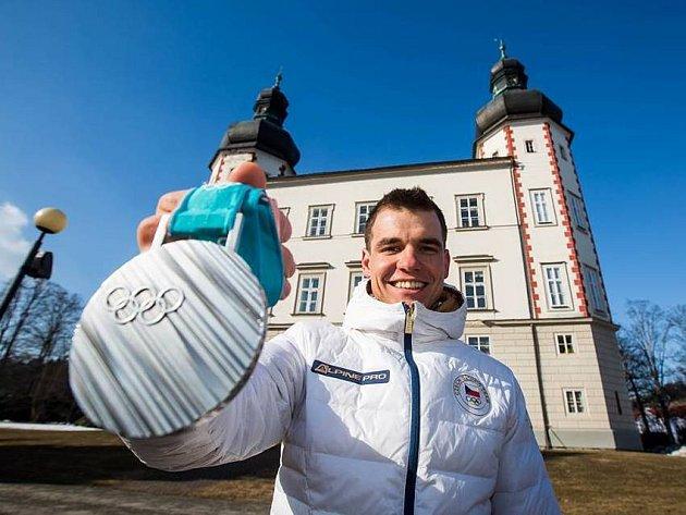 Michal Krčmář se stříbrnou medailí ve Vrchlabí