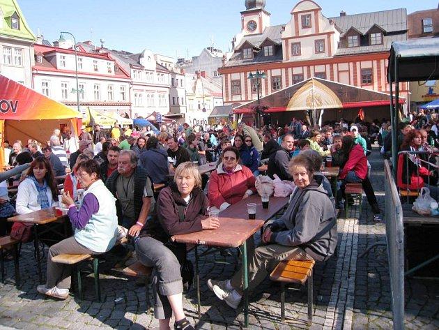 Krkonošské pivní slavnosti ve Vrchlabí, srpen 2012
