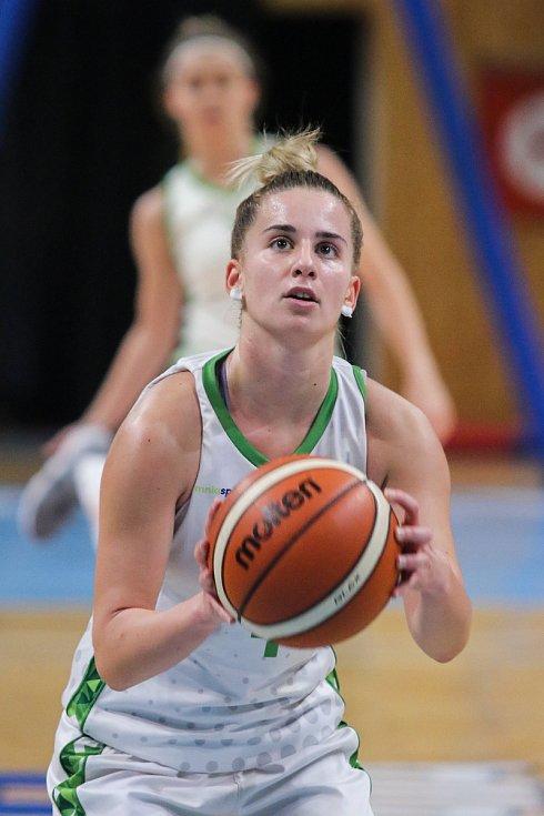 Utkání 10. kola Ženské basketbalové ligy: SBŠ Ostrava - BK Loko Trutnov, 5. prosince 2018 v Ostravě. Na snímku Corda Ines.