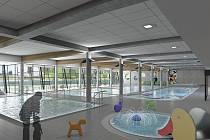 Vizualizace krytého bazénu ve Vrchlabí.