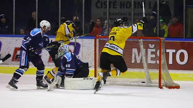 Ve čtvrtém utkání se na vrchlabském ledě radoval Sokolov.