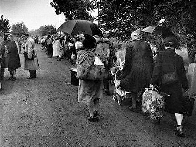 Odsun sudetských Němců. Ilustrační foto.