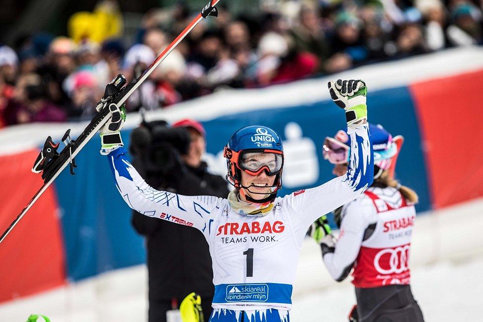 Petra Vlhová. Světový pohár ve Špindlerově Mlýně (webfoto)
