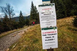 Následky říjnové vichřice v Krkonoších
