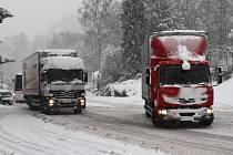 Sněhová situace v Trutnově