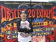 Miloslav Urbanec alias Čurby organizuje na trutnovském Bojišti festival extrémní hudby Obscene Extreme. Začíná ve středu v poledne.