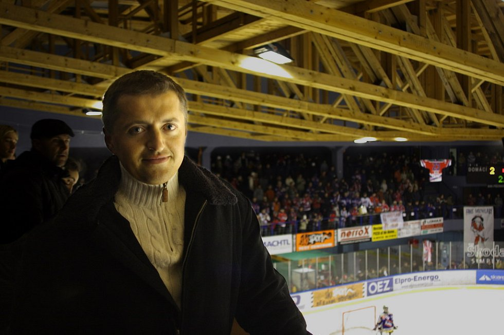 Majitel vrchlabského hokejového klubu Petr Dědek.