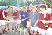 Úpické oslavy těsně po skončení zápasu