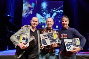 Jazz World Photo 2017. Zleva druhý Serhiy Horobets, první Oleg Panov a třetí Andrea Rotili.