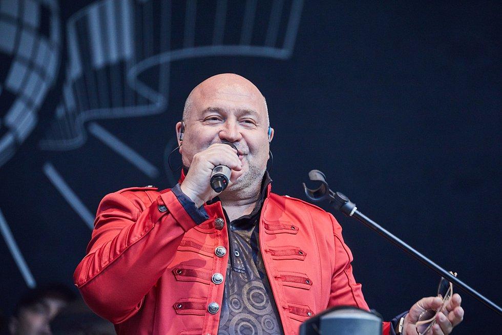 Michal David koncertoval na trutnovském Bojišti.