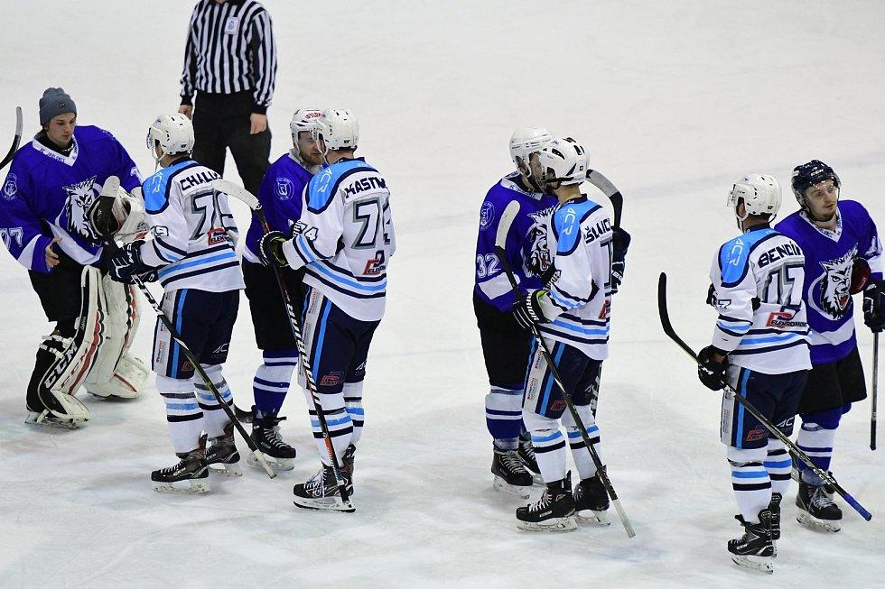 V souboji mezi Vrchlabím a Jabloncem se do branky trefovali jen domácí hokejisté.