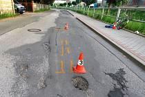 Nehoda opilého cyklisty v Úpici