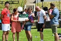 Při Dubina cupu se podařilo získat 213 500 korun pro malou Viktorku, která nedávno přišla o oba rodiče při dopravní nehodě u Černožic.