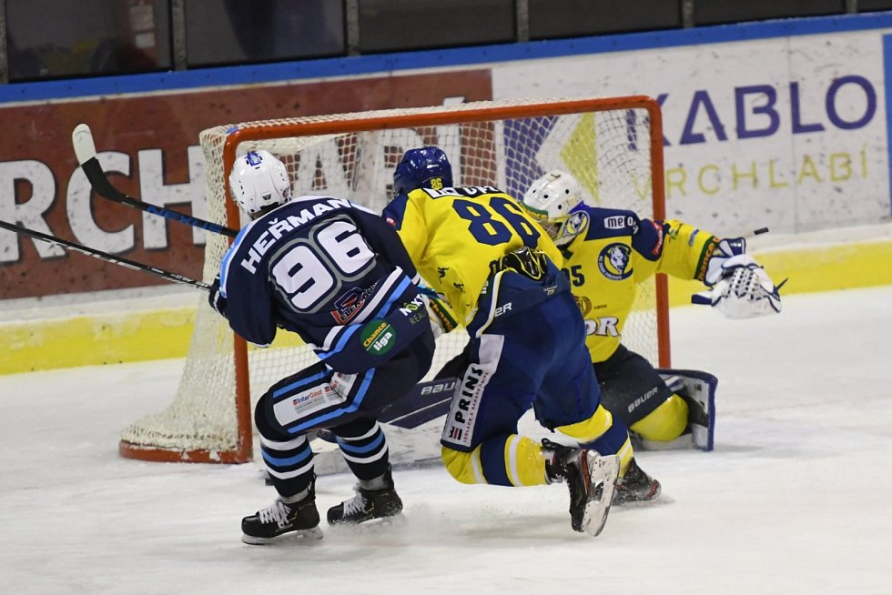 Hokejová Chance liga: HC Stadion Vrchlabí - HC ZUBR Přerov.
