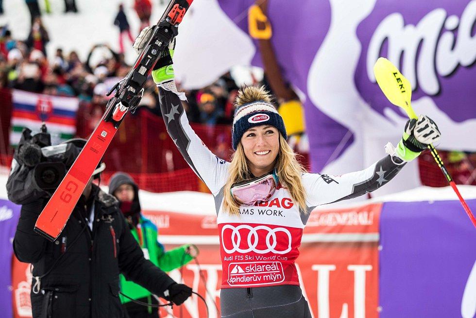 Vítězka Mikaela  Světový pohár ve Špindlerově Mlýně (webfoto)