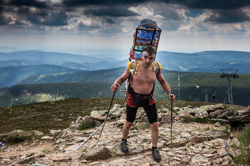 Zdeněk Pácha na trati letního Sněžka Sherpa Cupu 2018.