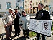 Demonstrace k dvacátému výročí smrti Pavla Wonky