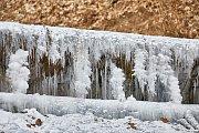 Silné mrazy  v Trutnově - na řece Úpě a rybníku v areálu Dolce.