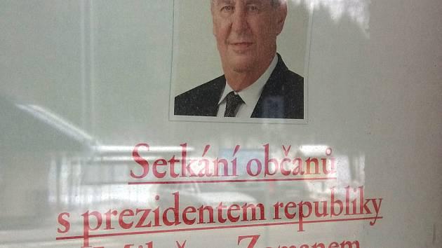 Prezident Zeman v Rudníku