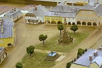 Model znázorňuje, jak vypadalo Rýchorské náměstí v 19. století.
