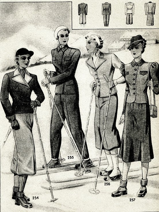 Lyžařský oděv.