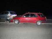 Nehoda dvou aut ve Rtyni, jeden z řidičů nadýchal.